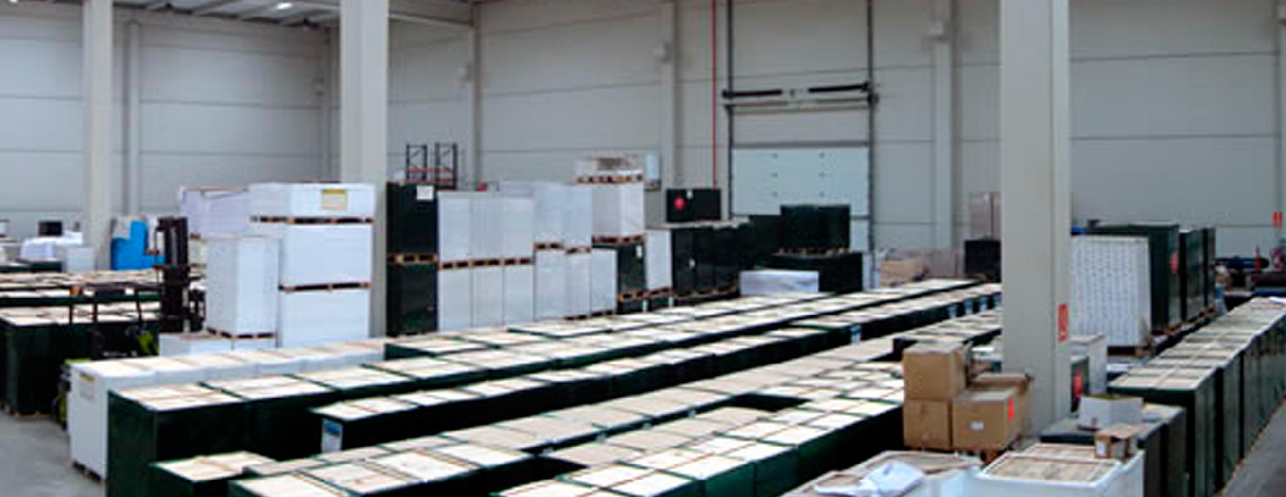 instalaciones de papel y cartón reciclado